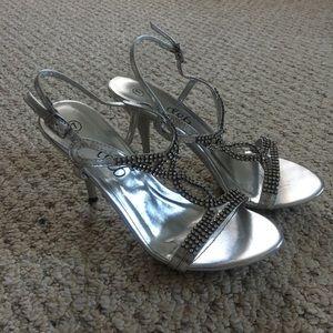 High Heeled Jeweled Dress Shoes